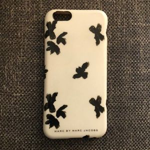 Marc by Marc Jacobs White/Blk Floral iPhone 6 Case